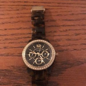 Fossil tortoise shell watch